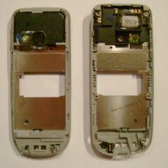 Nokia 3120 Classic szerelt, Középső keret, ezüst