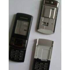 Samsung C3050 elő+mech+alsó bill.pan, Előlap, fekete