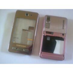 Samsung F480 komplett ház akkufedél nélkül, Előlap, rózsaszín