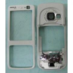 Nokia N73 elő+köz, Előlap, ezüst