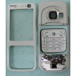 Nokia N73 elő+köz+gomb, Előlap, ezüst