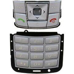 Samsung E250 alsó+felső, Gombsor (billentyűzet), ezüst