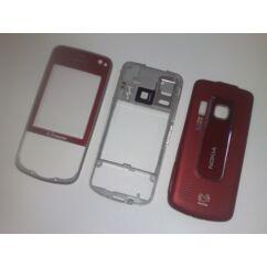 Nokia 6210 Nav elő+akkuf+köz, Előlap, piros