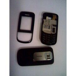 Nokia 3600 Sl elő+akkuf+köz, Előlap, fekete