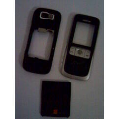 Nokia 2630 komplett ház+gomb, Előlap, fekete