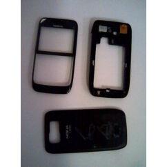 Nokia E63 elő+köz+hátl, Előlap, fekete