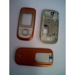 Nokia 2680 komplett ház+gomb, Előlap, narancs