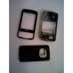 Nokia N96 elő+akkuf+köz+plex, Előlap, fekete