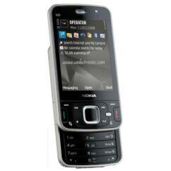 Nokia N96 elő+akkuf+köz+plex, Előlap, szürke