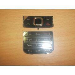 Nokia 6700 Classic alsó+felső, Gombsor (billentyűzet), ezüst-fekete
