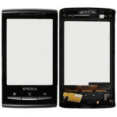 Sony Ericsson X10 Mini, Érintőplexi, (+előlap), fekete