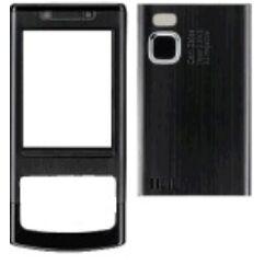 Nokia 6500 Sl elő+akkuf, Előlap, fekete