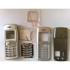 Samsung C100 komplett ház + gomb, Előlap, ezüst