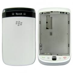 Blackberry 9800 Torch komplett ház, Előlap, fehér