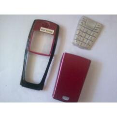 Nokia 6220 elő+akkuf, Előlap, bordó-fekete