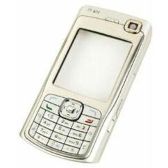 Nokia N70 komplett ház akkufedél nélkül, Előlap, ezüst
