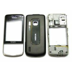 Nokia 6210 Nav elő+akkuf+köz, Előlap, fekete