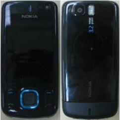 Nokia 6600 Sl elő+akkuf, Előlap, kék