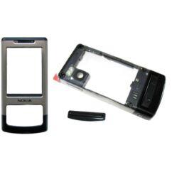 Nokia 6500 Sl elő+közép, Előlap, ezüst