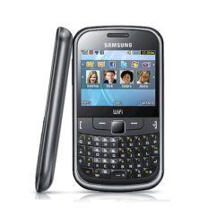 Samsung S3350 elő+akkuf, Előlap, fekete