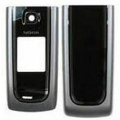 Nokia 6555 elő+akkuf, Előlap, ezüst-fekete