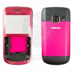 Nokia C3-00 komplett ház, Előlap, rózsaszín