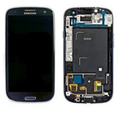 Samsung i9300 Galaxy S3, LCD kijelző érintőplexivel, kék