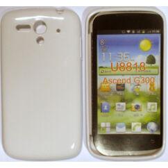 Szilikon tok, Huawei G300, S-Case - fehér