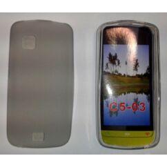 Nokia C5-03, Szilikon tok, S-Case, átlátszó
