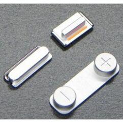 Gomb, Apple iPhone 5S (oldalgombok 3 db), ezüst