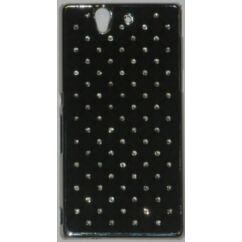 Sony Xperia Z C6603 köves, Hátlap tok, fekete