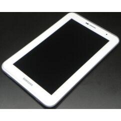 Samsung P3100 Galaxy Tab 2 7.0, LCD kijelző érintőplexivel és előlappal, fehér