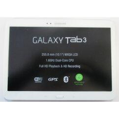 Samsung P5200 Galaxy Tab 3 10.1, LCD kijelző érintőplexivel és előlappal, fekete