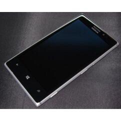 LCD kijelző, Nokia Lumia  925 érintőplexivel és előlappal, ezüst
