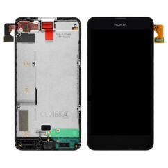 Nokia Lumia  630/635, LCD kijelző érintőplexivel, fekete