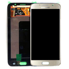 Samsung G920 Galaxy S6, LCD kijelző érintőplexivel, arany