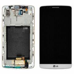 LG G3 D855, LCD kijelző érintőplexivel, fehér