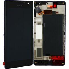Nokia Lumia  730/735, LCD kijelző érintőplexivel és előlappal, fekete