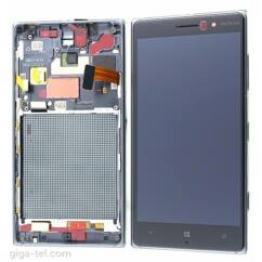 Nokia Lumia  830, LCD kijelző érintőplexivel és előlappal, szürke