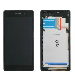 Sony Xperia Z2 D6502/D6503/D6543, LCD kijelző érintőplexivel, fekete
