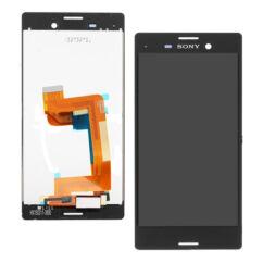 Sony Xperia M4 Aqua E2303/E2306, LCD kijelző érintőplexivel és előlappal, fekete
