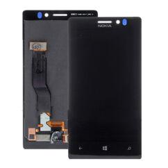 Nokia Lumia  925, LCD kijelző érintőplexivel és előlappal, fekete