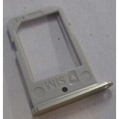 Samsung G925 Galaxy S6 Edge, SIM tartó, arany