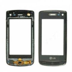 Érintőplexi, LG GD900 (előlappal), fekete