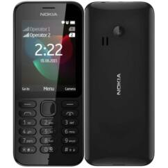 Mobiltelefon, Nokia 222 DualSIM, fekete