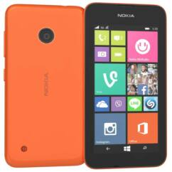 Nokia Lumia 530, Mobiltelefon, narancs
