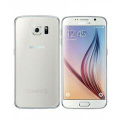 Mobiltelefon, Samsung G920F Galaxy S6 32GB kártyafüggetlen, 1+1 év garancia, fehér
