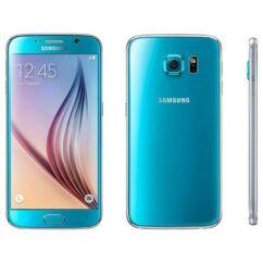 Mobiltelefon, Samsung G920F Galaxy S6 LTE 4G 128GB Kártyafüggetlen, 1+1 év garancia, kék