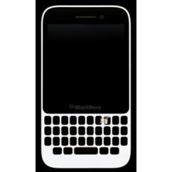 Blackberry Q5, LCD kijelző érintőplexivel, fehér