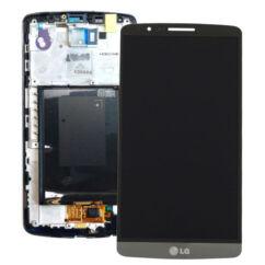 LG G3 D855, LCD kijelző érintőplexivel, szürke